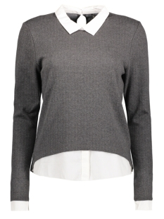 Only Trui onlDOTTED L/S COLLAR TOP ESS 15145157 Dark Grey Melan/Cloud Danc