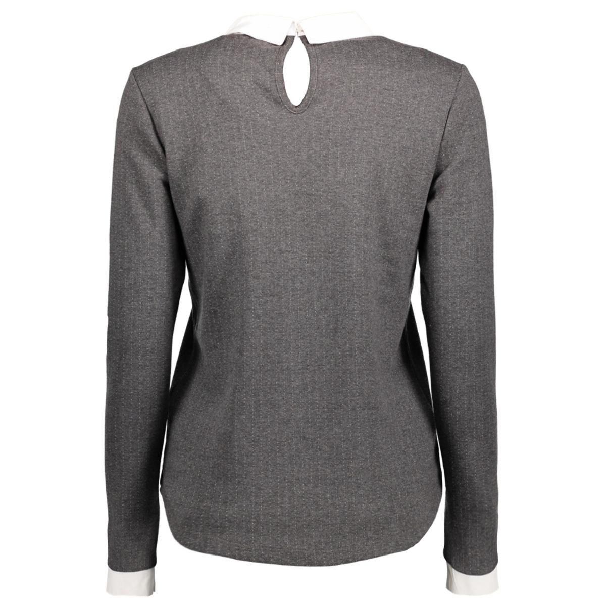 onldotted l/s collar top ess 15145157 only trui dark grey melan/cloud danc
