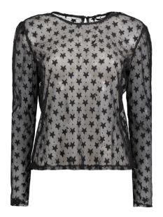 Only T-shirt onlFAITH L/S HEART TOP WVN 15143615 black/star