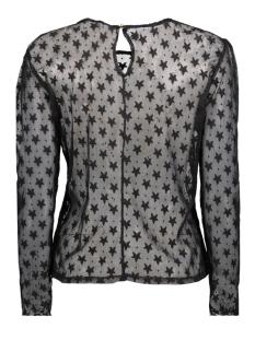 onlfaith l/s heart top wvn 15143615 only t-shirt black/star