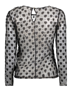 onlfaith l/s heart top wvn 15143615 only t-shirt black/heart