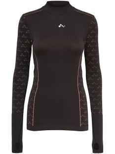 onpdecla run  seamless ls tee 15139177 only play sport shirt black/ lantana
