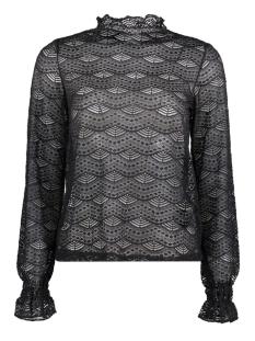 Jacqueline de Yong T-shirt JDYJOVI L/S HIGHNECK LACE TOP JRS 15138677 Black