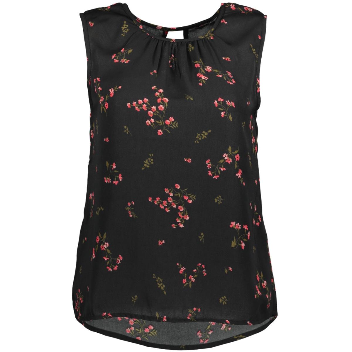 vmparisan s/l top d2-8 10189801 vero moda top black/flora prin
