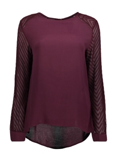 Object T-shirt OBJZOE L/S TOP .I 94 23025590 Winetasting