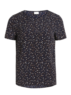 Vila T-shirt VIBAHARI S/S TOP 14044716 Dark Navy/FLOWER PRI