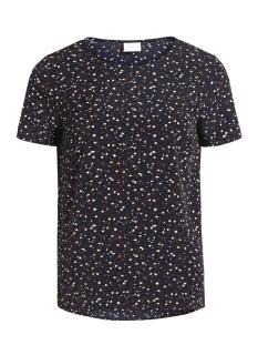 Vila T-shirt VIBAHARI S/S TOP 14044716 Dark Navy/FLOWER PRI