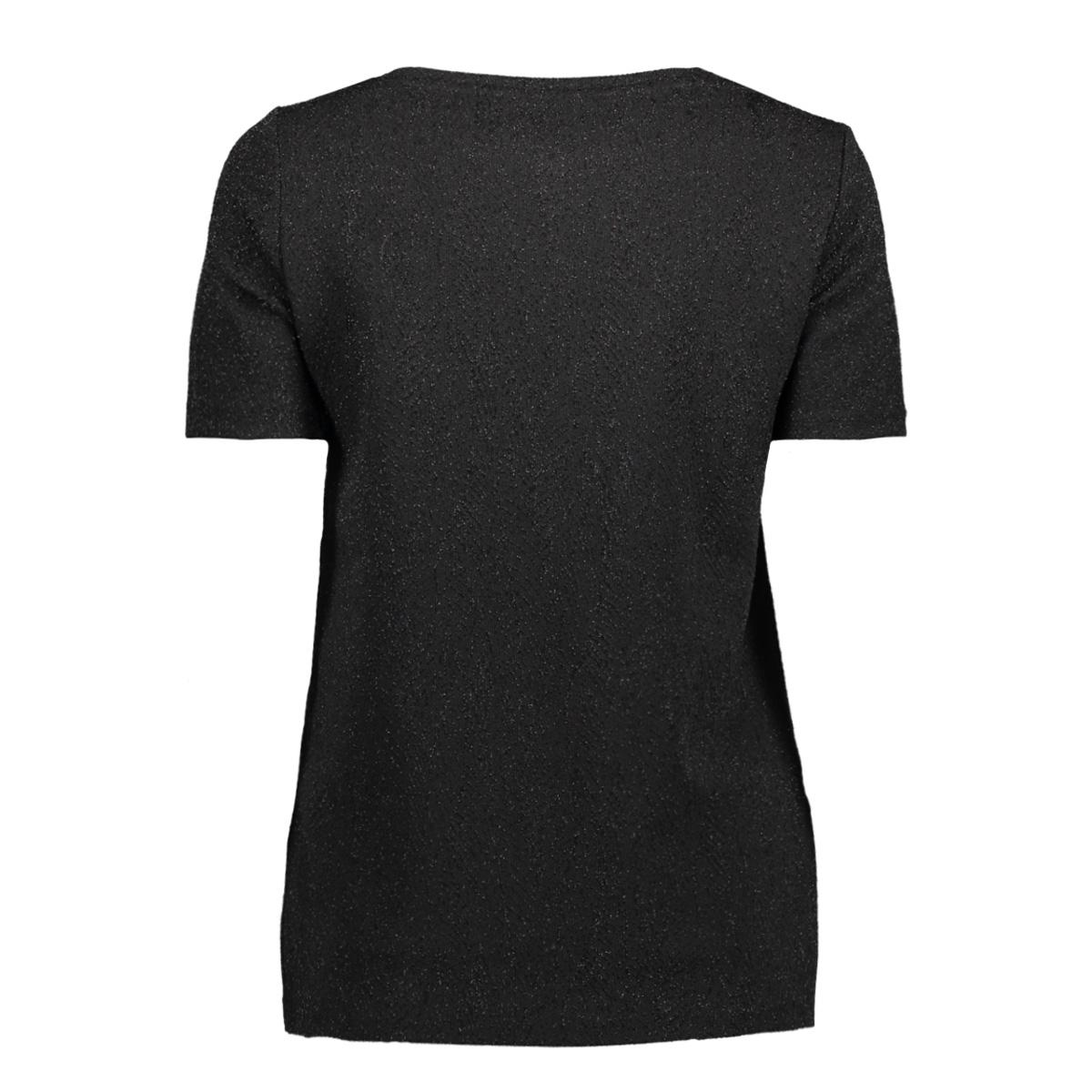 vmbright ss top boo 10188424 vero moda t-shirt black/black lure