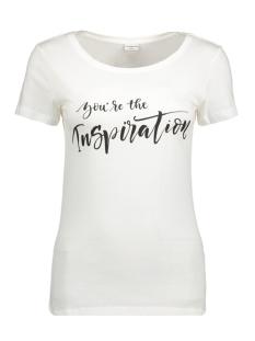 jdychicagos 7 s/s print top 11 jrs 15141657 jacqueline de yong t-shirt cloud dancer