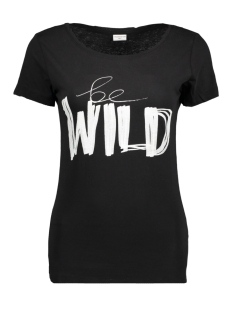 Jacqueline de Yong T-shirt JDYCHICAGOS 7 S/S PRINT TOP 11 JRS 15141657 Black