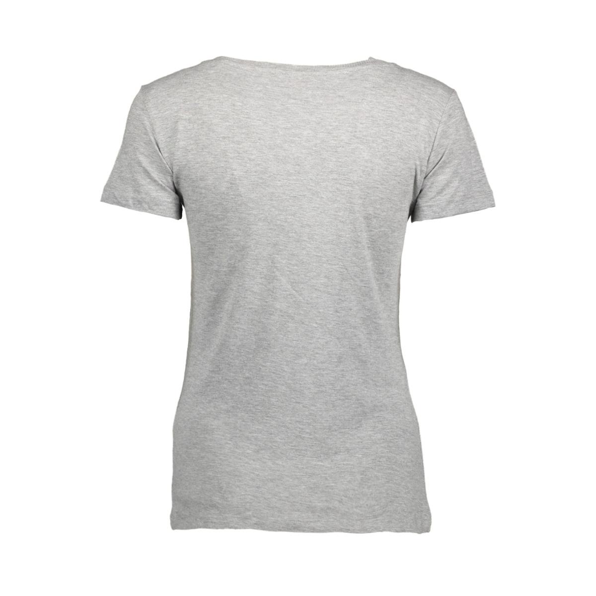 jdychicagos 7 s/s print top 11 jrs 15141657 jacqueline de yong t-shirt light grey melange