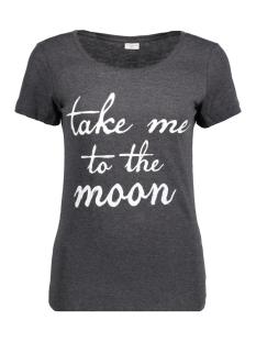 Jacqueline de Yong T-shirt JDYCHICAGOS 7 S/S PRINT TOP 11 JRS 15141657 Dark grey melange