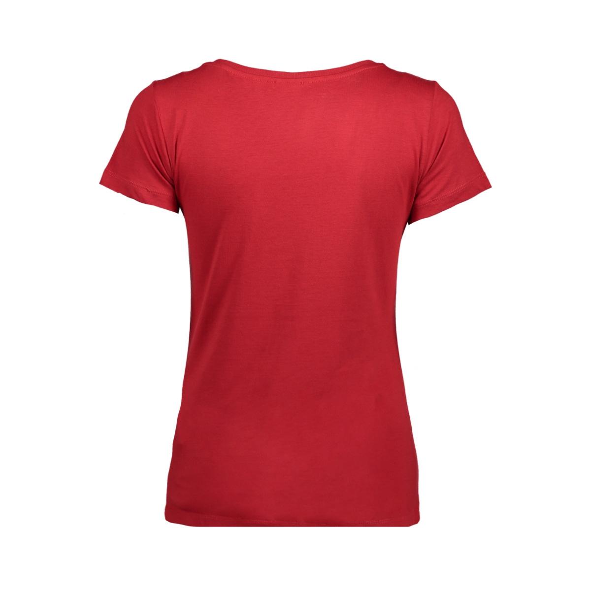 jdychicagos 7 s/s print top 11 jrs 15141657 jacqueline de yong t-shirt scarlet sage