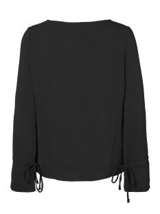 vmjulie l/s tie top a 10188193 vero moda blouse black