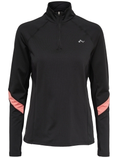 Only Play Sport shirt onpSHANI RUN BRUSHED LS HALF ZIP 15139298 Black/Lantana an