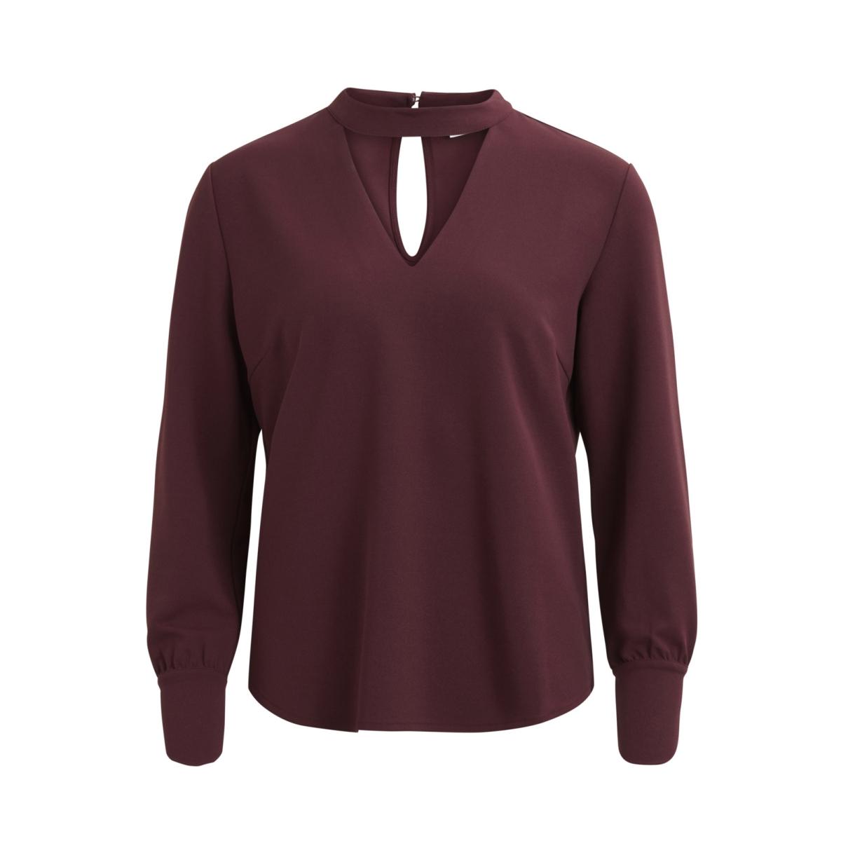 vikadidan l/s v-neck top 14043964 vila blouse fig