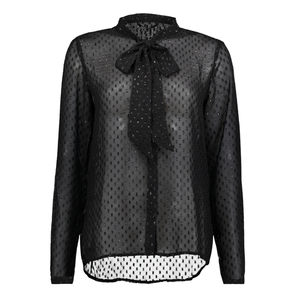 onllieke l/s bow top wvn 15143629 only blouse black