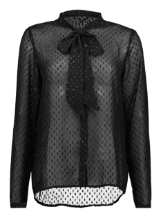 Only Blouse onlLIEKE L/S BOW TOP WVN 15143629 Black