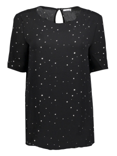 Jacqueline de Yong T-shirt JDYJANA 2/4 TOP WVN 15140856 Black/FLOWER