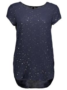 Vero Moda T-shirt VMBOCA SS BLOUSE FOIL AOP PRINT 10178397 Navy Blazer/SALARA PRI