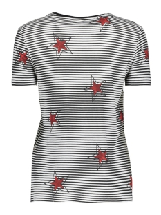 nmhayden stripe s/s top 8 27000526 noisy may t-shirt bright white star