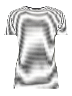 nmhayden stripe s/s top 8 27000526 noisy may t-shirt bright white stripe