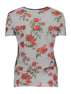 nmhayden stripe s/s top 8 27000526 noisy may t-shirt bright white roses