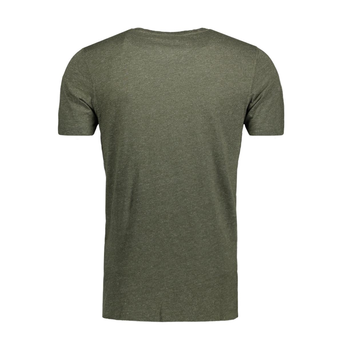jorauthentic tee ss crew neck 12128508 jack & jones t-shirt forest night
