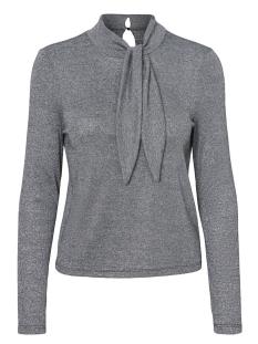 Vero Moda T-shirt VMSHIRLEY L/S BOW TOP D2-8 10188135 Black/SILVER