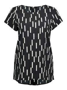 Vero Moda T-shirt VMSTINNE S/S TOP D2 LCS 10199272 Black/SNOW WHITE