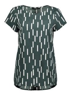 Vero Moda T-shirt VMSTINNE S/S TOP D2 LCS 10199272 Green Gabels/SNOW WHITE