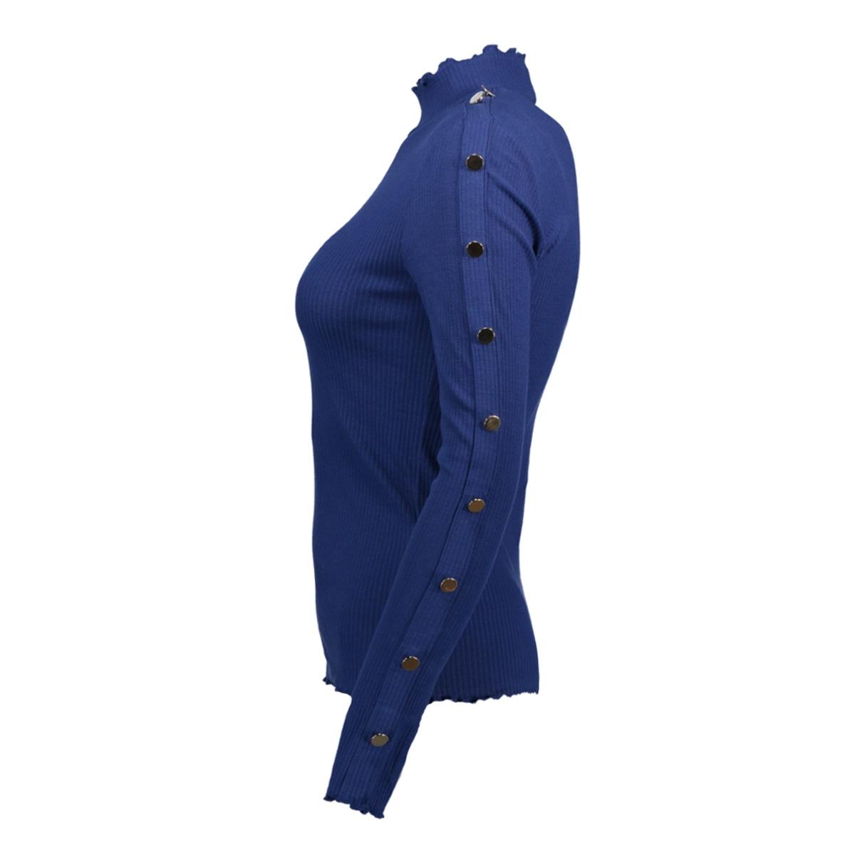 onlroxana l/s button top ess 15147068 only trui blue depths