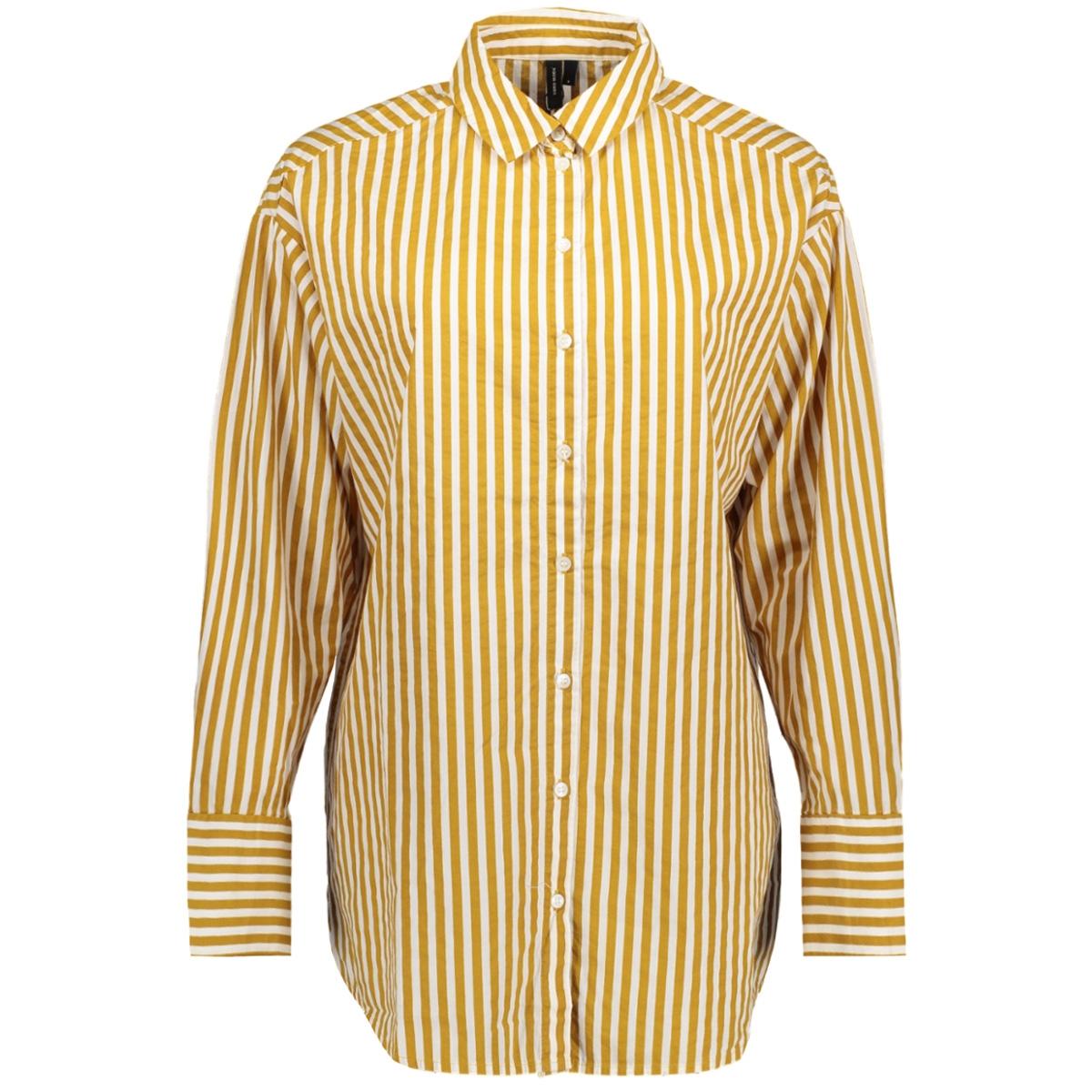 vmcannes l/s long shirt o17 10196220 vero moda blouse harvest gold