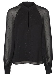 Vero Moda Blouse VMMILA LS TOP GA 10190258 Black