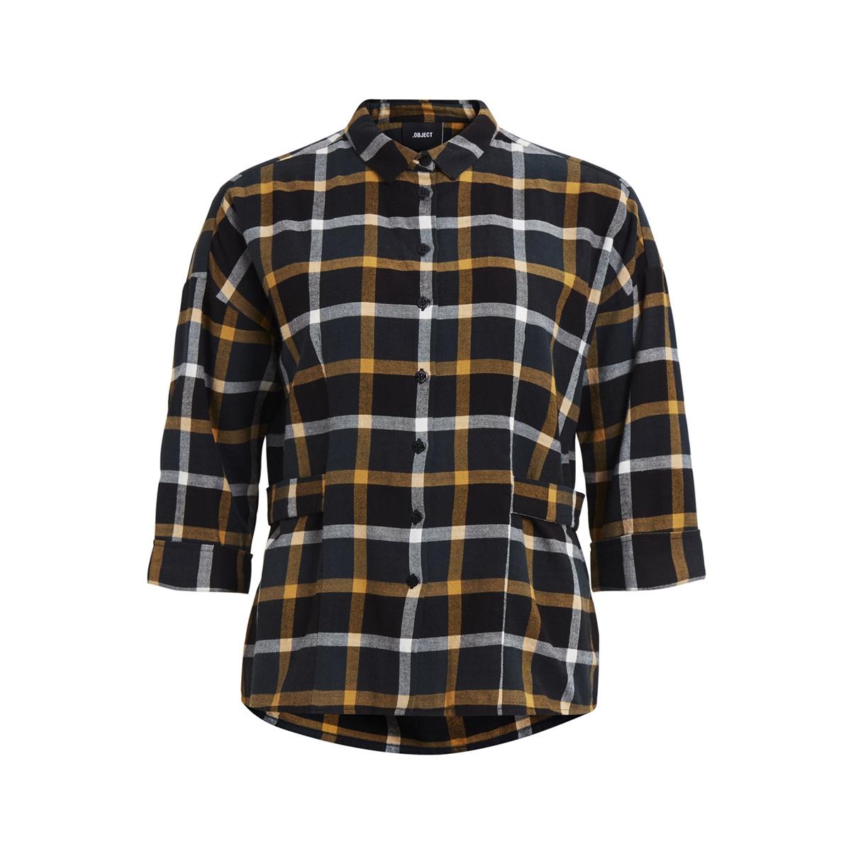 objaubree l/s side button shirt au 23026377 object blouse black