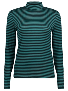Jacqueline de Yong T-shirt JDYSPIRIT LS HIGHNECK STRIPE TOP JR 15141522 Storm/BLACK