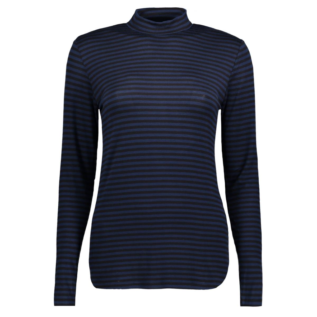 jdyspirit ls highneck stripe top jr 15141522 jacqueline de yong t-shirt dress blues/black
