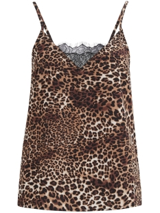 Vila Top VIKACY  SINGLET/RX 14047580 Black/Animal Pri
