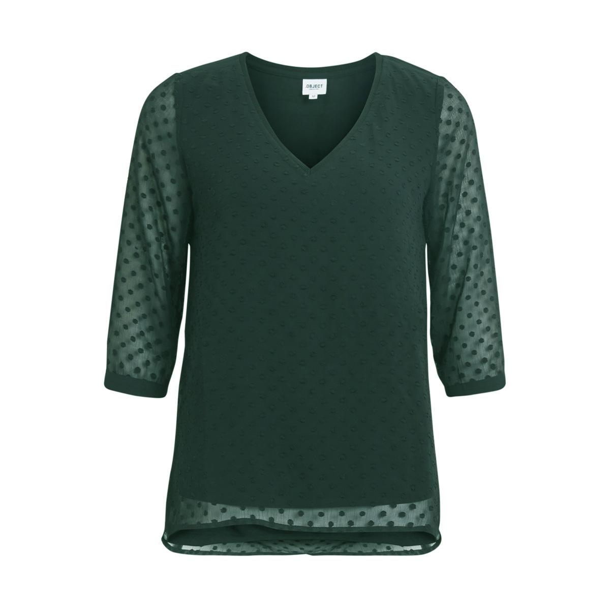 objclaire 3/4 top au a 23026375 object blouse deep teal