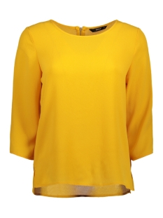 Only Blouse onlMESA LUX SOLID 3/4 SLEEVE TOP WV 15147735 Golden Glow