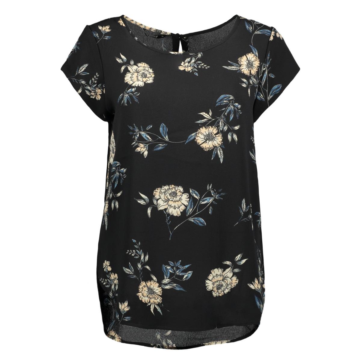 onlmesa s/s lux top aop wvn 15147638 only t-shirt black/sanchi flo