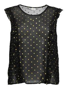 Jacqueline de Yong Top JDYMISSY S/L FRILL FOIL TOP WVN 15145524 Black/Gold dot