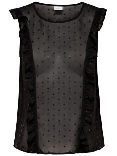 Jacqueline de Yong Top JDYMISSY S/L FRILL FOIL TOP W 15145524 Black/Black dots