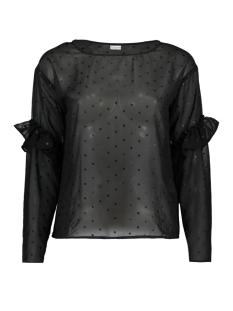 Jacqueline de Yong Blouse JDYMISSY L/S FRILL FOIL TOP WVN 15145525 Black/ black dots