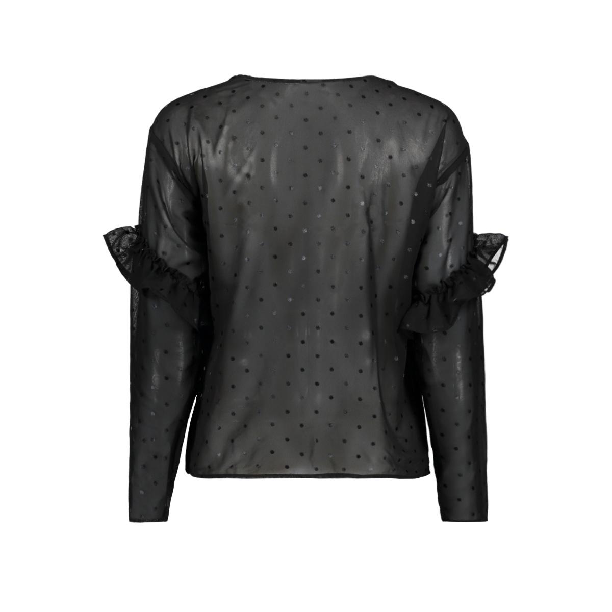 jdymissy l/s frill foil top wvn 15145525 jacqueline de yong blouse black/ black dots