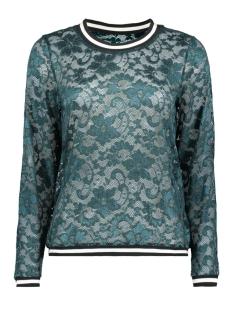 Jacqueline de Yong T-shirt JDYMAYA L/S LACE TOP JRS 15153978 Sea Moss