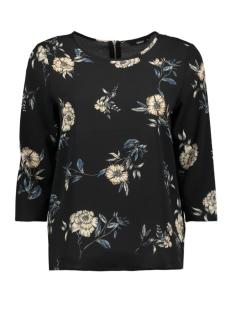 onlmesa lux aop 3/4 sleeve top wvn 15147645 only t-shirt black/sanchi flo