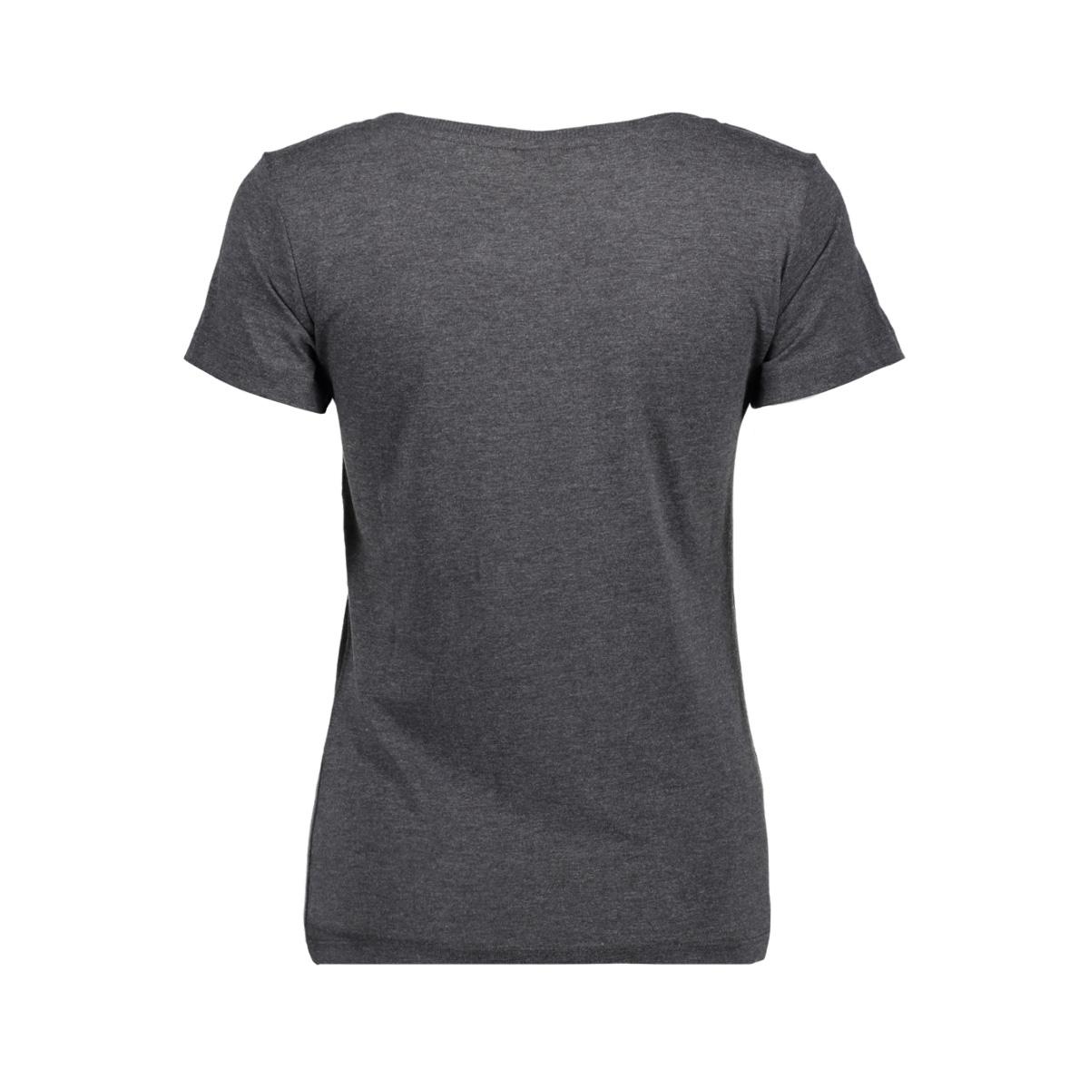 jdychicago s/s print top 10  jrs 15146739 jacqueline de yong t-shirt dark grey melange/love me