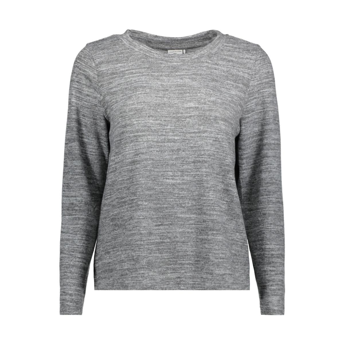 jdysorry l/s pullover jrs 15142872 jacqueline de yong trui light grey melange