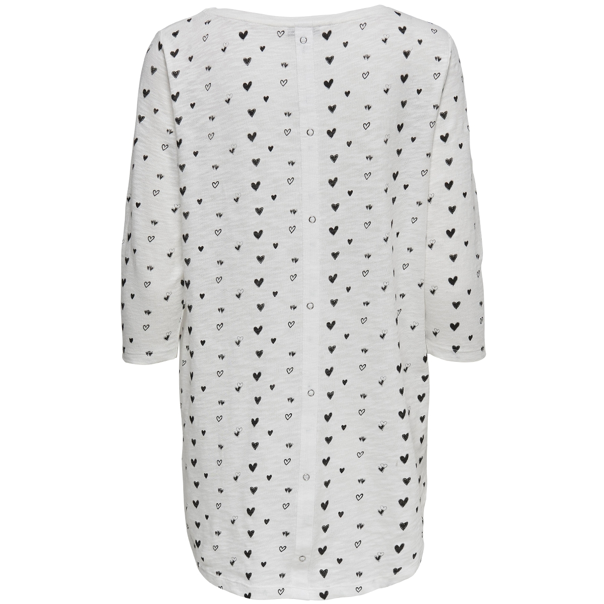 onlcasa 3/4 aop top jrs noos 15157699 only t-shirt cloud dancer/ hearts